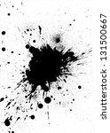 black ink splash design on... | Shutterstock . vector #131500667