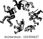 black and white vector... | Shutterstock .eps vector #131504627