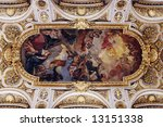 Golden Church Ceiling With...