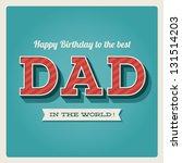 happy birthday card with retro... | Shutterstock .eps vector #131514203
