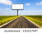 billboard on country road | Shutterstock . vector #131517497