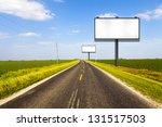 billboard on country road | Shutterstock . vector #131517503