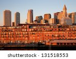 boston skyline and custom house ... | Shutterstock . vector #131518553
