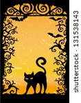 black cat vector grunge... | Shutterstock .eps vector #131538143