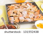 Kaiserschmarrn (a austrian dessert) with fruits - stock photo