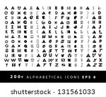 more than 200 alphabetical... | Shutterstock .eps vector #131561033