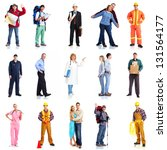 group of workers people set.... | Shutterstock . vector #131564177