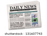 Mock Up Of A Daily Newspaper O...