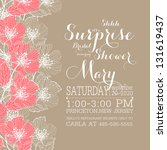 bridal shower invitation card | Shutterstock .eps vector #131619437