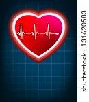 abstract heart beats cardiogram ... | Shutterstock .eps vector #131620583