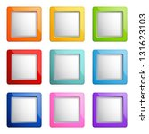 set of square web buttons | Shutterstock .eps vector #131623103