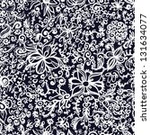 floral seamless pattern. vector ... | Shutterstock .eps vector #131634077