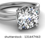 wedding rings on white... | Shutterstock . vector #131647463