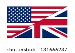 Stock vector flag us uk 131666237