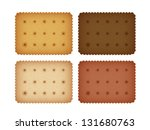 biscuit cookie cracker... | Shutterstock .eps vector #131680763
