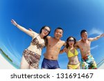group of happy young people... | Shutterstock . vector #131691467