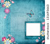 easter greeting card with... | Shutterstock . vector #131693663