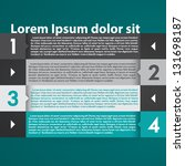 modern infographic design layout | Shutterstock .eps vector #131698187
