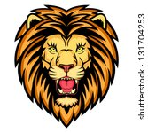 a lion head logo. this is... | Shutterstock . vector #131704253