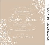 bridal invitation card | Shutterstock .eps vector #131709473