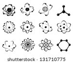 atomic icons - stock vector