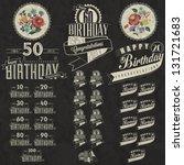 retro vintage style birthday... | Shutterstock .eps vector #131721683