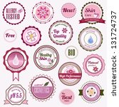 badges  labels and stickers on... | Shutterstock . vector #131724737