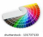 color palette guide on white... | Shutterstock . vector #131737133