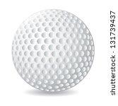 golf ball over white background.... | Shutterstock .eps vector #131739437