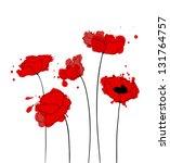 poppies | Shutterstock .eps vector #131764757