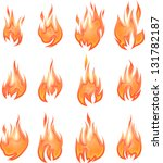 collection of vector fires... | Shutterstock .eps vector #131782187