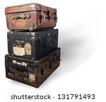 antique steamer trunk. | Shutterstock . vector #131791493