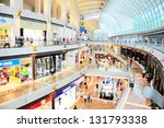 SINGAPORE - MARCH 08: Shopping mall at Marina Bay Sands Resort on March 08, 2013 in Singapore. It is billed as the world's most expensive standalone casino property at S$8 billion - stock photo