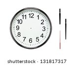 close up of blank silver clock... | Shutterstock . vector #131817317