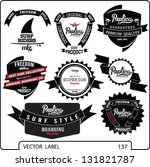 vector retro surf and banner... | Shutterstock .eps vector #131821787
