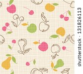 seamless fruits pattern | Shutterstock .eps vector #131826113
