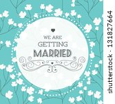 Vector illustration. Wedding invitation card. Seamless floral pattern can be used for wallpaper, web page background, pattern.  Seamless floral background - stock vector