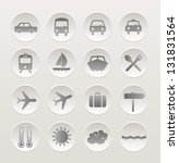 Set of vacation and travel icons. Vector icon set - stock vector