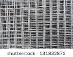 layers of shiny steel rod for construction - stock photo