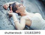 portrait of beautiful bride.... | Shutterstock . vector #131832893