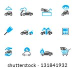 Car insurance icons in duo tone colors - stock vector