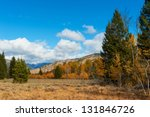 A beautiful meadow for hiking near Sun Valley, Idaho - stock photo
