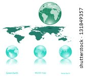 globes of earth and lanmass... | Shutterstock .eps vector #131849357