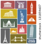 travel icons | Shutterstock .eps vector #131854607