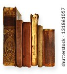 Collection Old Books Isolated...