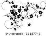 floral abstract design element | Shutterstock .eps vector #13187743