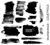 strokes of black ink on... | Shutterstock .eps vector #131879513