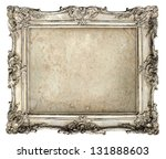 old silver frame with empty... | Shutterstock . vector #131888603