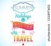 bright summer poster | Shutterstock .eps vector #131897603