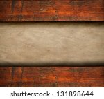 Blank paper on wooden background - stock photo